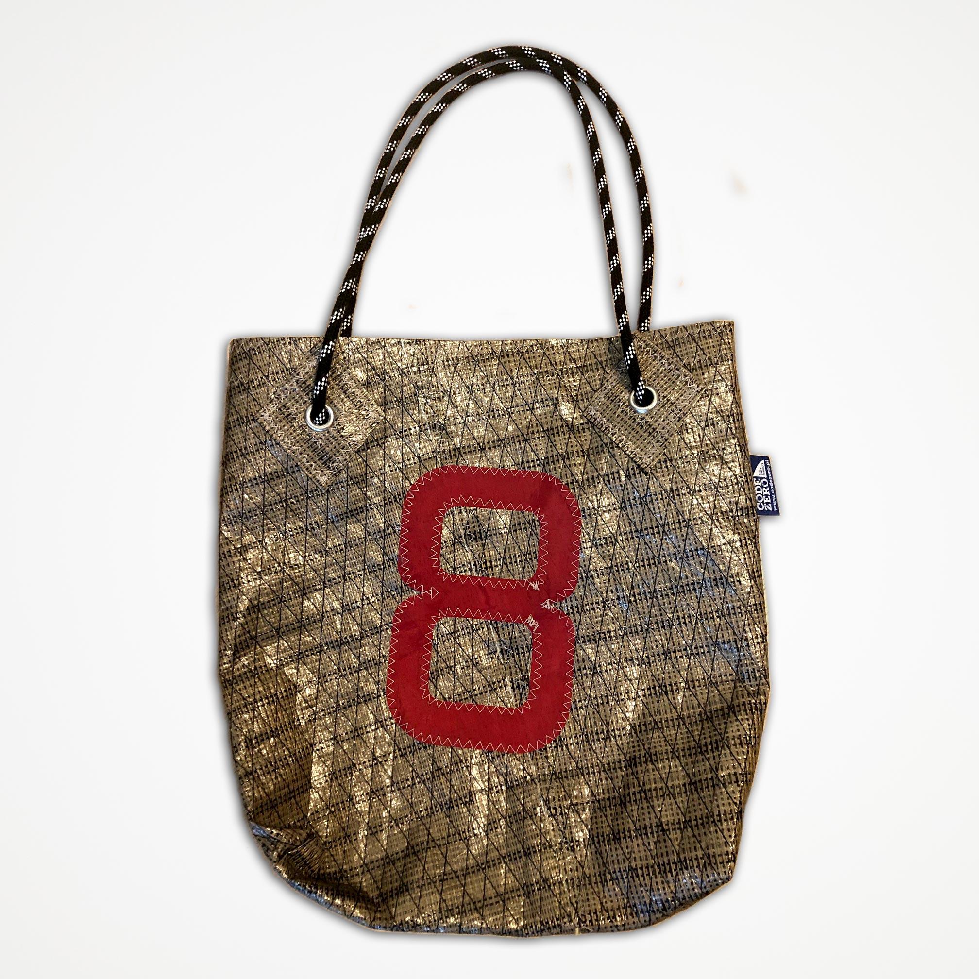 Shoppen Strandtasche Segeltuch gold